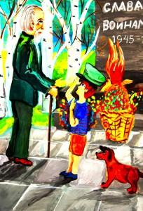 """День Победы, рисунки детей, МОУДОА """"Детская школа искусств"""""""
