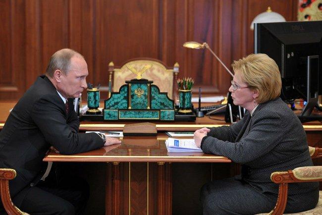 Встреча президента с Министром здравоохранения Вероникой Скворцовой