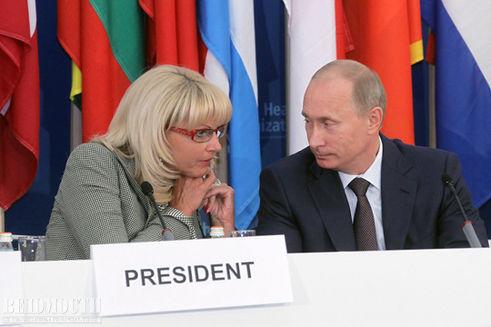 Татьяна Голикова и Владимир Путин