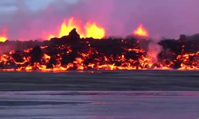 извержение вулкана Бардарбурга