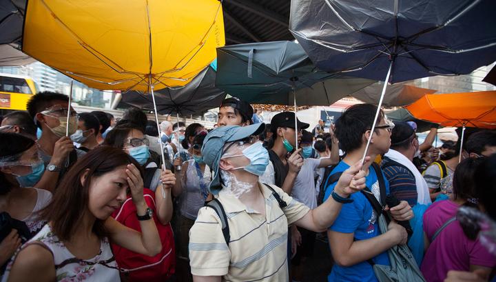 волнения в Гонконге