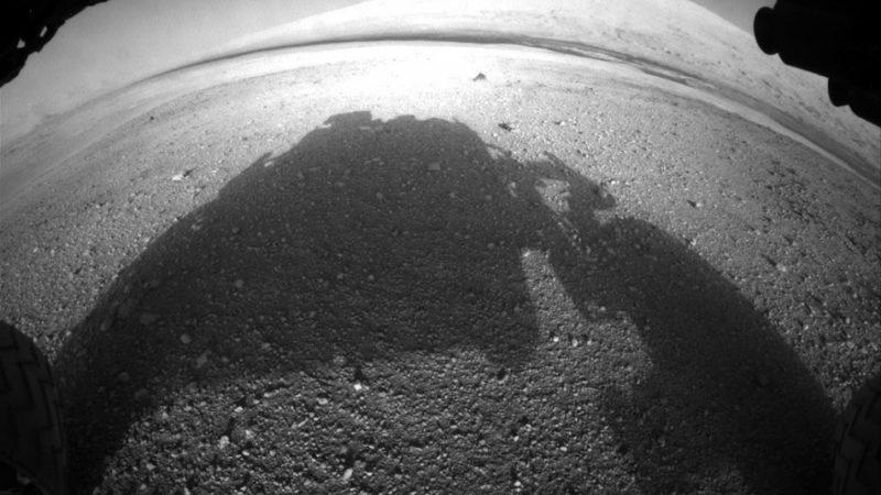 Марсоход Curiosity. Вид от первого лица