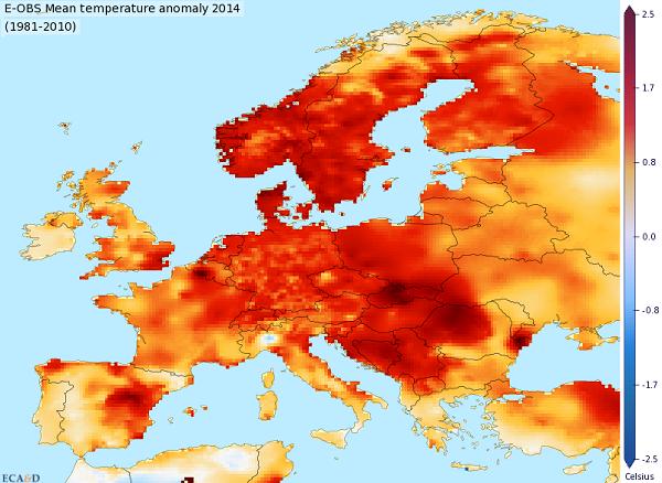 аномальная погода в Европе