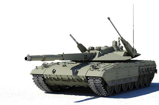 "3D-модель танка ""Армата"""