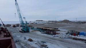 Началось возведение объектов портовой инфраструктуры