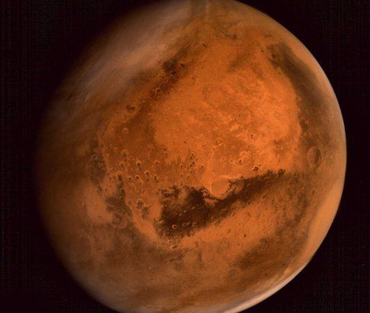 Фотография Марса с аппарата Mars Orbiter