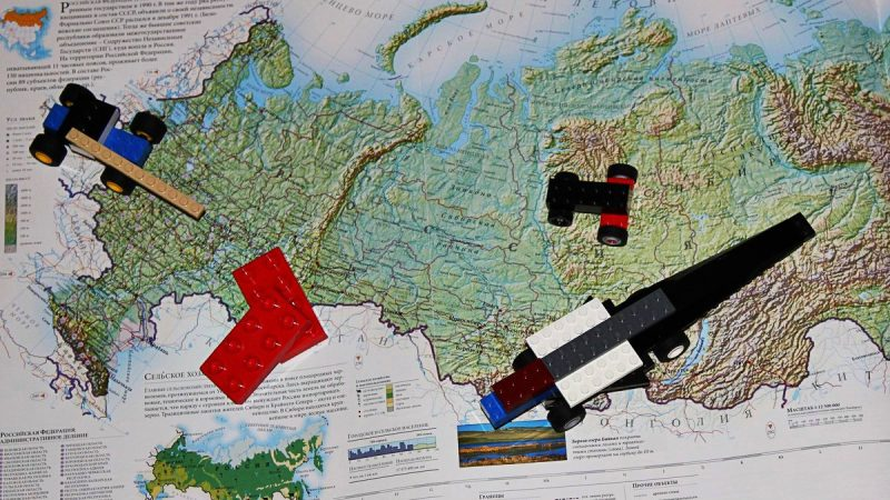 Россия, карта, строительство