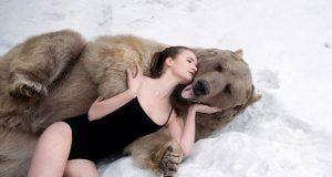 По словам авторов проекта, его цель - показать близость животного и человека, чтобы воспрепятствовать уничтожению медведей.