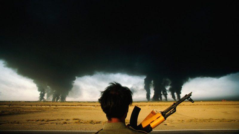 нефть, факелы, война