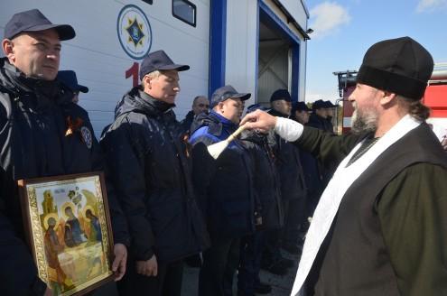 23 апреля 2015 в сельском поселении Чеускино Ханты-Мансийского автономного округа-Югры состоялось открытие и освящение пожарной части