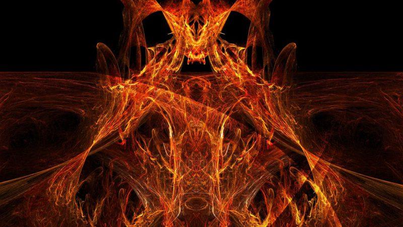 огненный демон, пожар, огонь