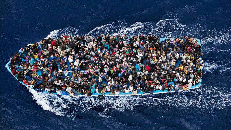 миграция, лодка, мигранты
