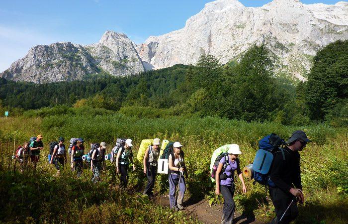 туризм, горы, поход