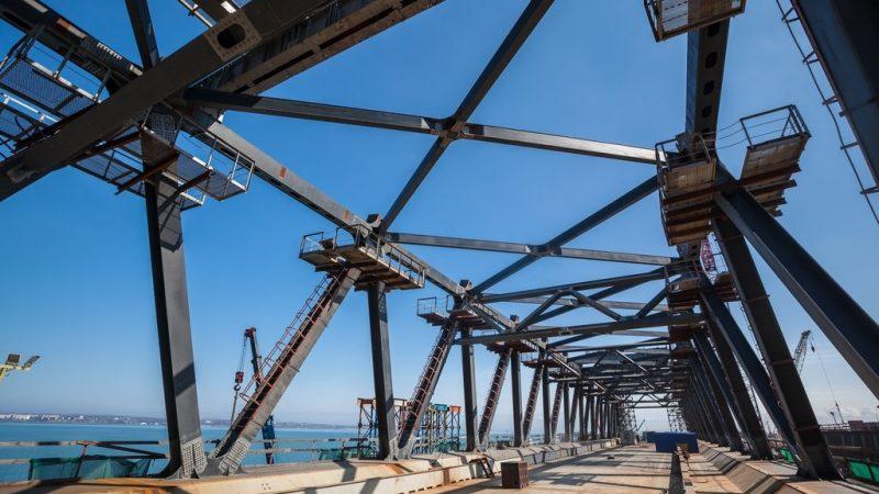 Крым, мост, арки, строительство