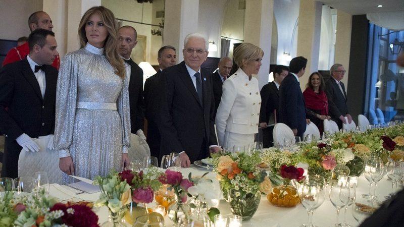 Ужин на саммите на Сицилии