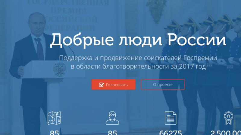 добрые люди России, голосование