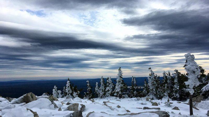 Зюраткуль, Челябинская область, снег, горы, природа