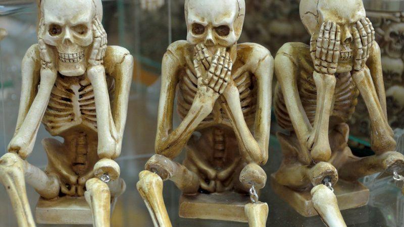 здоровье, отрицание, скелет