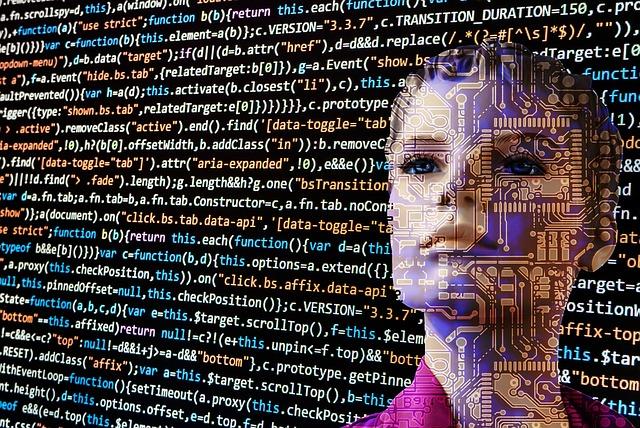 робот, код, Интернет, программирование