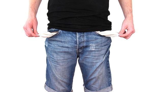 деньги, банкрот, джинсы, карманы, бедность
